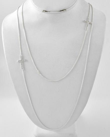 neckcrosssilverlong