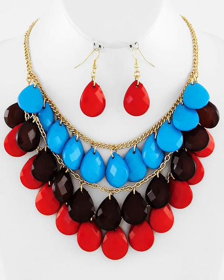 necklace3rowblackredblue