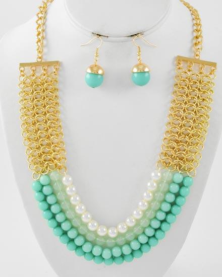 necklaceacornblue