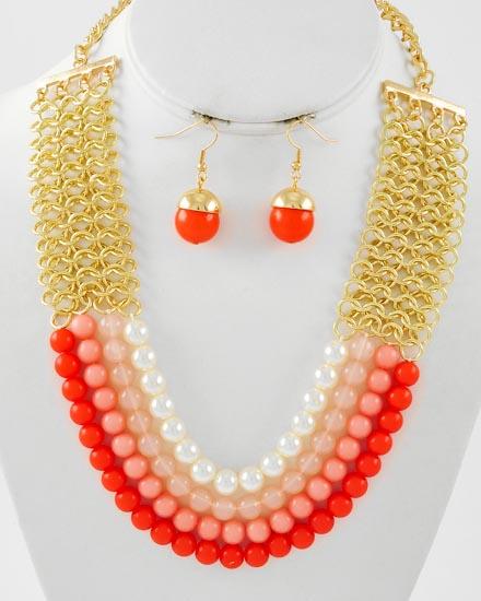 necklaceacornorange