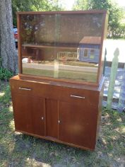 Beautiful china hutch with sliding doors $225